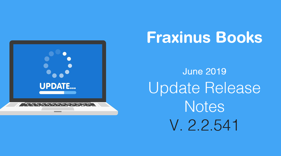 Release Notes – Update 2.2.541 – June 2019